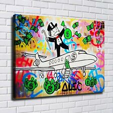 """28x20"""" Alec Monopoly """"PJ Fly, 2019"""" New HD print on canvas ready to hang on wall"""