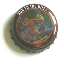 IRON MAIDEN Beer bottle cap ROBINSONS - TROOPER ale top RUN TO THE HILLS