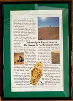 ♛ ROLEX Vintage Day Date Quartz Original Advert Advertising Memorabilia Framed ♛