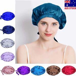 Mulberry Silk Nightcap Sleeping Cap Beanie Hat Hair Wrap Adjustable Elastic Band