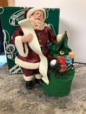 San Francisco Music Box Co Santa Claus Coming to Town Figurine Pack List Mib