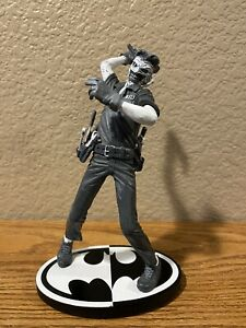 """DC Collectibles Batman Black & White The Joker by Greg Capullo 7.25"""" Statue Used"""
