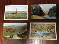 Antique Wyoming Postcard Lot of 4, Rivers, Oil Field, Landscape