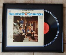 Rare MARK LINDSAY Signed PAUL REVERE AND THE RAIDERS Record Album FRAMED DISPLAY