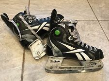 Reebok 11K Pump Hockey Ice Skates Black Sz 4 Boys