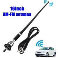 "16""Universal Car Roof Fender Radio AM FM Booster Aerial Amplified Antenna"