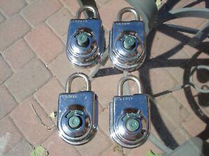 Vintage S&G Sargent & Greenleaf Combination Padlock 8077 Lock No Combos or Keys