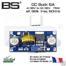 abaisseur de tension 5A 75W 4-38V 180KHz DC-DC buck 180kHz DIY Arduino ESP8266