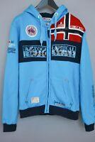 Herren Geographical Norway Kapuzenpullover Flyer Blau Baumwolle Mischung XXL