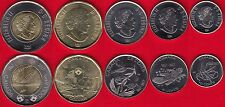 Canada set of 5 coins: 5 cents - 2 dollars 2017 UNC