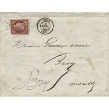 Cérès non dentelé N°6B oblitéré sur lettre de Lille 1853, TB.