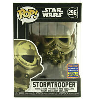 Funko Pop Star Wars Gold Storm Trooper #296 Wonderous Convention Limited Edition