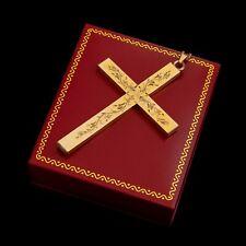 Antique Vintage Nouveau 12k Gold Filled GF LA MODE Rosary Cross Pendant Necklace