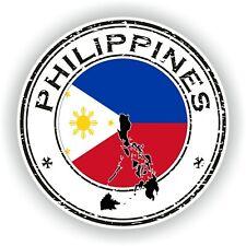 Filipinas Sello Sello Pegatina para Coche Camión Portátil Tablet Nevera Puerta