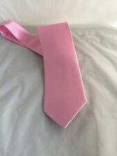 """Bebé Rosa Poliéster Corbata Para Hombre Tie - > Clásico 3.3"""" = 8cm ancho > 2UK > 1st Clase P&p"""