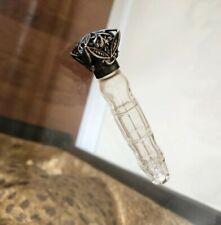 New listing Rare 1800 French Antique Victorian Perfume Silver Glass Open Filigree Bottle Vtg