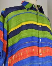 Countess Mara Men's Shirt Size Large Short Sleeve Sunshine L Check Pattern