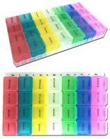 2x Tablettenbox 7 Tage   Pillendose   Medikamentenbox   Tablettendose   bunt