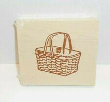 "Longaberger Wdc Block Basket WoodCrafts 4 1/4"" Wide New Wooden"