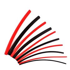 Red and Black Heatshrink Tube Sleeving Kit Pack 10x 100mm Pieces 1.6mm to 6.4mm
