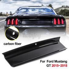 Carbon Fiber Color Rear Trunk Deck Moulding Trim Overlay For Ford Mustang