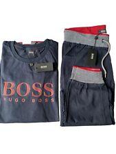 Men's Hugo Boss Tracksuit Full Set Sweatshirt And Bottom Navy Size : XLarge