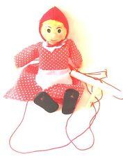 Marionette Holzpuppe Puppe Holzfigur Handarbeit Marionette Holz Rotkäpchen neu