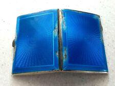 Art Deco 1928 Solid Silver & Guilloche Enamel Cigarette Case