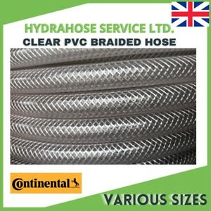 PVC HOSE Clear Flexible Reinforced Braided Food Grade OIL / WATER Pipe Tube