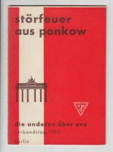 Störfeuer aus Pankow Verbandstag Heimkehrer Deutschlands 1960 Berlin VHD Krieg