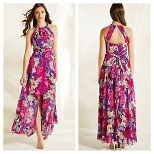 Look Again Size 18 Simply Fab Vibrant Floral Split Front Occasion MAXI DRESS £70