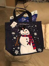 Disney World Snowman Christmas Tote Bag Mickey Ears 2016 Holidays Parks NEW