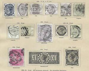 Great Britain stamps Collection of 11 CLASSIC stamps HIGH VALUE!