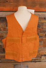 Vintage NOS Red Head Hunting Vest Game Pouch Shell Holders Cotton Brown Size L