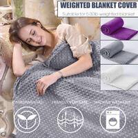 Zipper Velvet Quilt Duvet Cover Bedding For Weighted Blanket Single Queen 5 Size