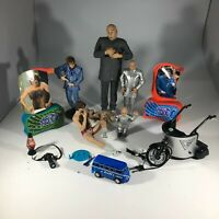 Lot of Austin Powers Movie Action Figures Dr Evil Mini Me Vehicle McFarlane Toys