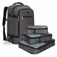 Hynes Eagle Travel Backpack 40L Flight Approved Carry-on Bag 3PCS Packing Cubes