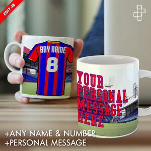 Personalised Crystal Palace Mug Football Gift Any Name Number & Message Selhurst