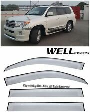 For 08-16 LandCruiser WellVisors Side Window Visors Premium Series Rain Guard