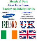 Samsung unlock code for all Samsung mobile phones from all UK & Ireland networks