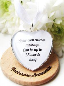 Custom wording Bouquet Charm Wedding Gift Flower Girl Bridesmaid Maid Of Honour