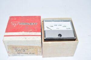 NEW Triplett 220-G 0-10,000 PSI Panel Meter