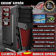 Ordenador Gaming PC Intel i5 6400 8GB 1TB ASUS Gtx1050 4GB Ddr5 de sobremesa