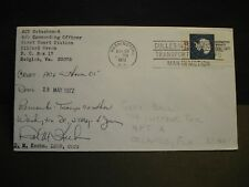 AIR CUSHIONED VEHICLE ACV HOVER 01 Naval Cover 1972 SIGNED Cachet HUDGINS, VA