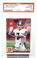 1992 Upper Deck HOF Broncos JOHN ELWAY Football Card PSA 10 GEM MINT / Pop 20!