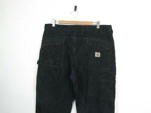 "Carhartt Black Denim Multi Pocket Double Knee Tech Workwear Carpenters | 38""x32"""