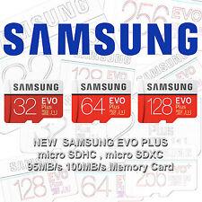 Samsung EVO Plus 32GB 64GB 128GB 256GB micro SD Class 10 TF Flash Memory Card G