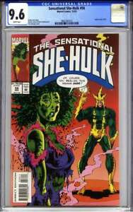 SENSATIONAL SHE-HULK #58 CGC 9.6 (Electro) indicia reads 10/93