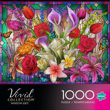 New ListingBuffalo Games Vivid Collection Window Lilies 1000 Piece Jigsaw Puzzle