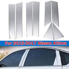 8PCS Window Chrome Pillar Posts Cover Trim Accent For Nissan Altima 2013-2018